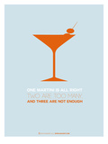 Martini Poster Orange