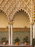 Spain  Andalucia Region  Seville Province  Seville  the Alcazar  Moorish Arches