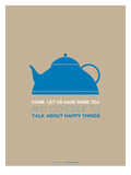 Tea Poster Blue
