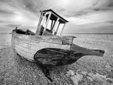 Infrared Image of the Old Fishing Boat  Dungeness  Kent  UK