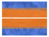 Blue and Orange Abstract Theme 4