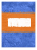 Blue and Orange Abstract Theme 1