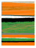 Orange and Green Abstract 2
