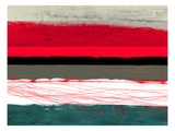 Abstract Stripe Theme Red Grey and White
