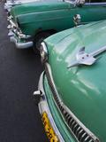 Cuba  Havana  Central Havana  Parque De La Fraternidad  Old 1950s-Era US Cars