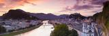 Sunrise over Hohensalzburg Fortressover and Alt Stadt  Salzburg  Salzburger Land  Austria