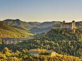 Italy  Umbria  Perugia District  Spoleto  Rocca Albornoz and Ponte Delle Torri