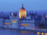Hungarian Parliament Building at Dusk  Budapest  Hungary