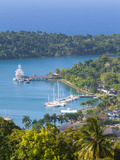 Elevated View over Port Antonio and Navy Island  Portland Parish  Jamaica  Caribbean