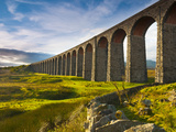 UK  England  North Yorkshire  Ribblehead Viaduct on the Settle to Carlisle Railway Line