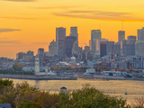 Canada  Quebec  Montreal  Downtown from Jacques Cartier Bridge across Saint Lawrence River
