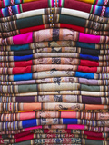 Colourful Blankets in Witches' Market  La Paz  Bolivia