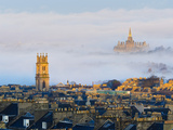UK  Scotland  Edinburgh  New Town Rooftops  St Stephen's Church and Fettes College