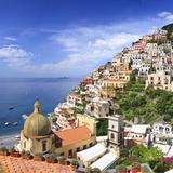 Italy  Campania  Salerno District  Peninsula of Sorrento  Positano  Santa Maria Assunta Church View