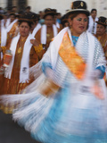 Women Dancing in Festival  Sucre (UNESCO World Heritage Site)  Bolivia