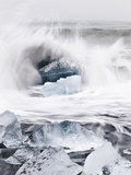 Ice on Jokulsa Beach  Iceland