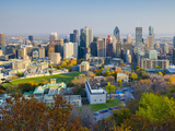 Canada  Quebec  Montreal  Downtown from Mount Royal Park or Parc Du Mont-Royal