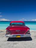 Cuba  Matanzas Province  Varadero  Varadero Beach with 1958 US-Made Cheverlot