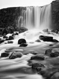 Oxararfoss Waterfall, Pingvellir National Park, Iceland Papier Photo par Nadia Isakova