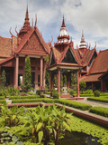 Courtyard at National Museum  Phnom Penh  Cambodia
