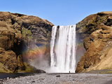 The Skogafoss  One of the Biggest Waterfalls in the Country with a Width of 25 Meters and a Drop of