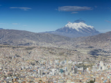 View of Mount Illamani and La Paz  Bolivia