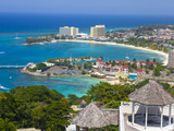 Elevated View over City and Coastline  Ocho Rios  St Ann Parish  Jamaica  Caribbean