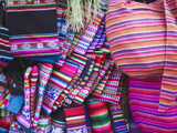 Colourful Bags and Scarves in Witches' Market  La Paz  Bolivia
