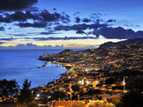 Funchal at Sunset  Madeira  Portugal