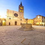 Italy  Umbria  Perugia District  Bevagna  Piazza Silvestri and San Michele Cathedral