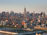 Meatpacking District and Empire State Building  (Pier 40 and Hudson River Infront) Manhattan  New Y