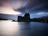 Eilean Donan Castle at Sunset  Scotland  UK
