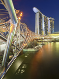 The Helix Bridge and Marina Bay Sands  Marina Bay  Singapore