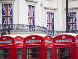 England  London  the Strand  Red Telephone Box and Union Jack Bunting to Celebrate the Queens Diamo
