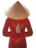 Girl Wearing Ao Dai Dress  Hanoi  Vietnam