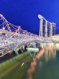 The Helix Bridge and Marina Bay Sands  Marina Bay  Singapore
