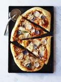 Potato Pizza  Cut into Pieces