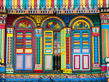 Singapore, Little India, Colourful Heritage Villa, Once the Residence of Tan Teng Niah Papier Photo par Gavin Hellier