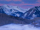 USA  Colorado  Crested Butte  Ruby Range Mountains in Winter