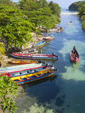 Colourful Fishing Boats on White River  Ocho Rios  St Ann Parish  Jamaica  Caribbean