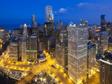 USA  Illinois  Chicago  Dusk View over the City