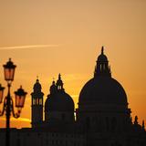 Basilica Di Santa Maria Della Salute at Sunset  Venice  Veneto Region  Italy