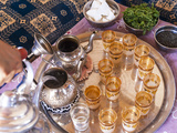 Making Mint Tea  Morocco