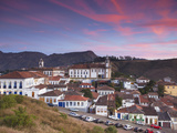 View of Ouro Preto (UNESCO World Heritage Site) at Sunset  Minas Gerais  Brazil