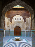 The Beautifully Ornate Interior of Madersa Bou Inania  Fes  Morocco