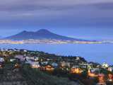 Italy  Naples  View of Naples  Posillipo Town and Mt Vesuvius