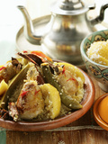 Couscous with Chicken  Courgettes  Tomatoes  Lemons and Cinnamon