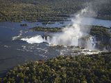 Aerial View of Iguacu Falls  Iguacu National Park  Parana  Brazil