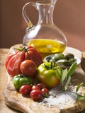 Fresh Tomatoes  Olives  Salt and Olive Oil