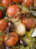 Fried Cherry Tomatoes with Garlic and Olives